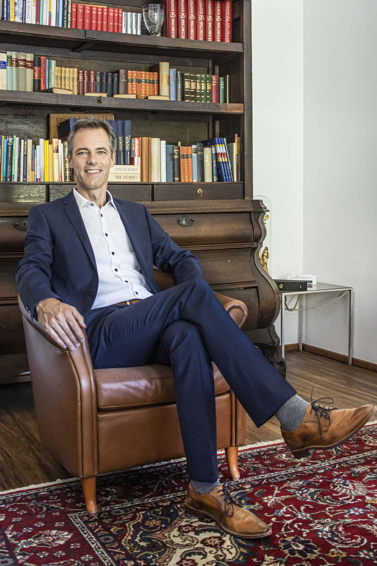 Hannes Abfalterer in seinem Büro